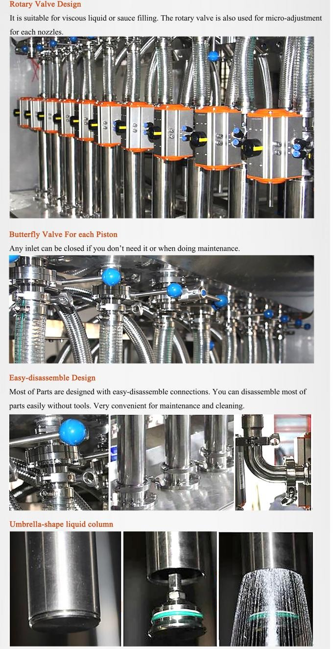 316L Stainless Steel OEM Bottle Filling Machine