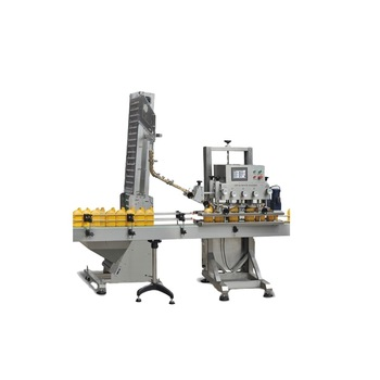 Npack Easy Operate Automatic Factory Linear Type Engine Oil bottle Capping Machine with Elevator