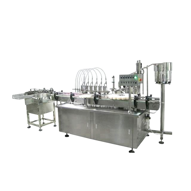 Npack Automatic Linear Type Liquid Filling And Capping Machine Monoblock