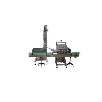 Npack Manufacturing Linear Type PlC Control Automatic Glass Bottle Capping Machine with Elevator
