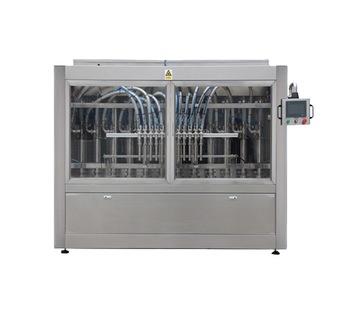 Npack Servo Motor Piston High Speed Automatic Conveyor Belt Pail Bottle Jar Liquid Filling Machine
