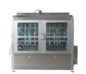 Npack Manufacturing Servo Motor Piston Liquid Detergent Bottle Filling Machine with Bottlom Up Filling Function