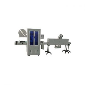 Npack Servo Motor Driven PLC Control Automatic Water Bottle Sleeving Labeling Printer Machine