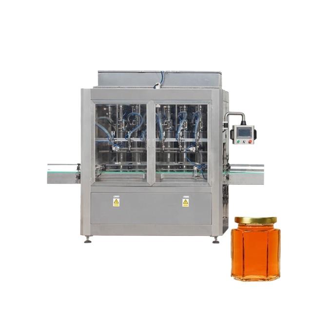 Npack PLC Control Piston Manufacturing Sauce Jar Liquid Ketchup Glass Jar Bottle Filling Machine