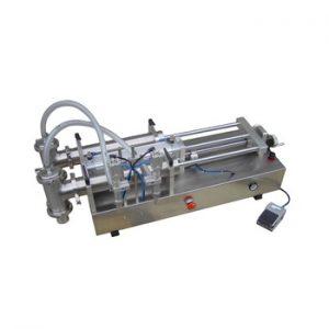 Semi-automatic horizontal liquid piston  filling machine