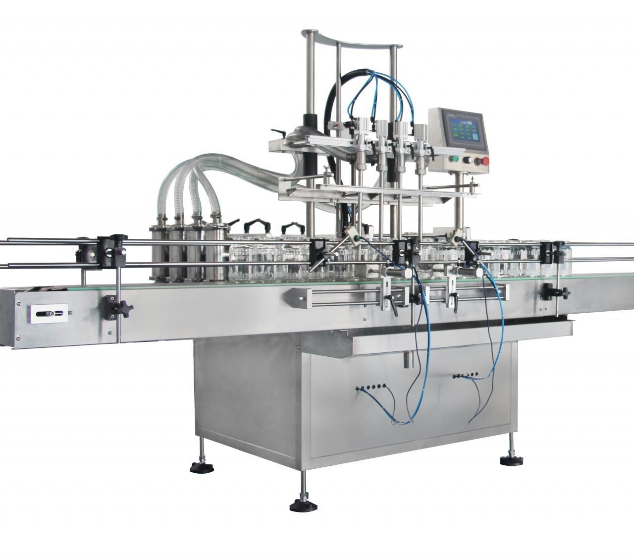 Npack Servo Motor Economic Piston Linear Type NP-EVF High Speed Automatic Liquid Bottle Filling Machine