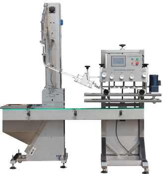 Npack Spindle Screwing Linear Type Automatic Trigger Capping Machine with Cap Elevator