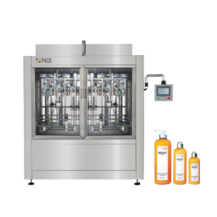 Npack Servo Motor Manufacturing Electric Automatic Hair Conditioner Liquid Bottle Filling Machine
