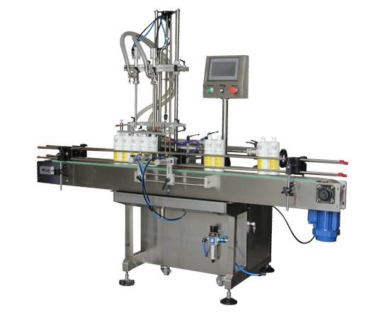 Npack PlC Control Economic Servo Motor Piston Manufacturing Automatic Liquid Bottling Machine with Elevator