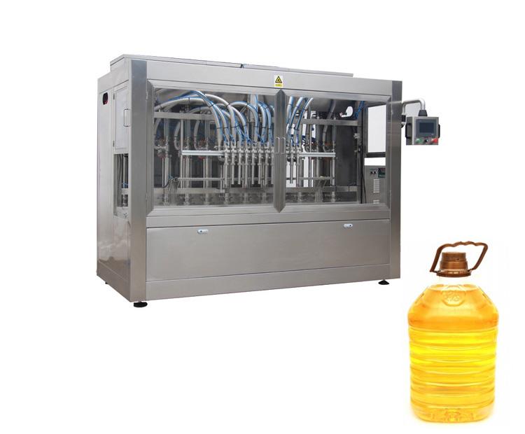 Npack Servo Motor Full Automatic Bottle Filling Machine Vegetable /Plant Oil with U-type Tank