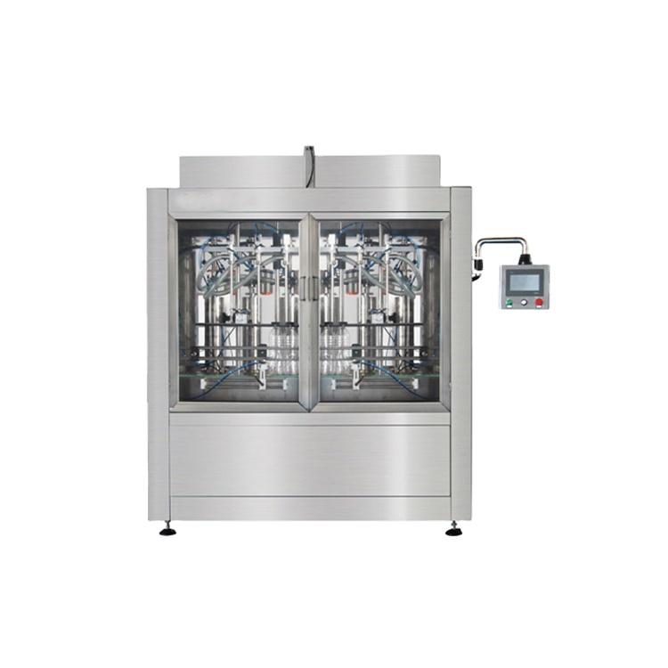 Npack Easy Operate Servo Motor Piston Automatic Glass Cleaner Filling Machine for Plastic Bottle