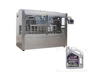 Npack China Manufacturing Linear Type Fully Automatic Petrol Lubricating Oil Filling Machine