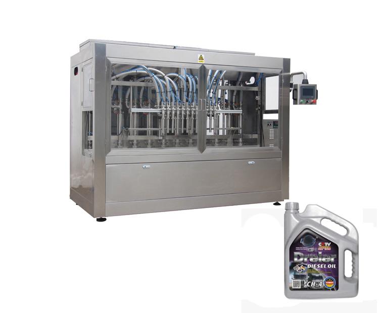 Npack PLC Control Piston Manufacturing Servo Motor Lube Oil Lubricating Oil Plastic Bottle Filling Machine