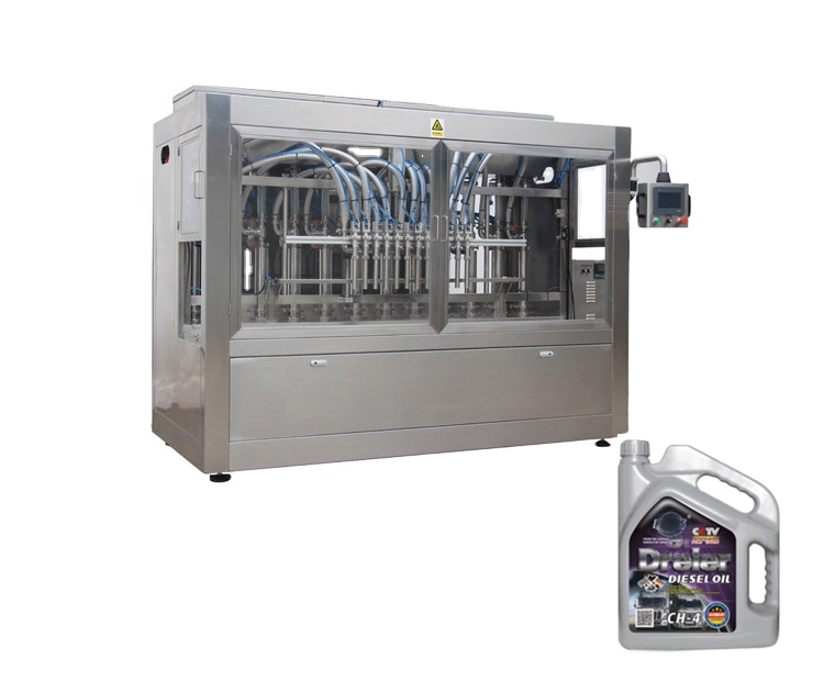 Npack Linear Type Easy Operate Piston Automatic Lube Oil Filling Machine for Plastic Bottle