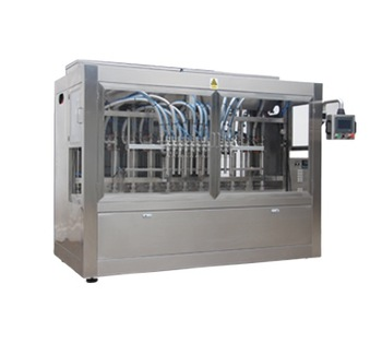 Npack Automatic Servo Motor Driven Linear Type Piston 6 Nozzles Liquid Filling Capping Machine With Flat Round