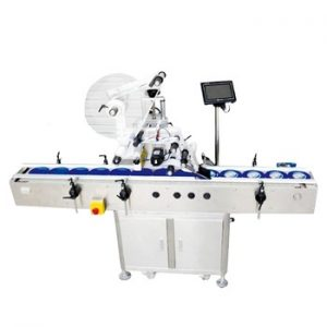Npack Servo Motor Driven Automatic Conveyor Belt Carton Box Plane Sticker Labeling Machine