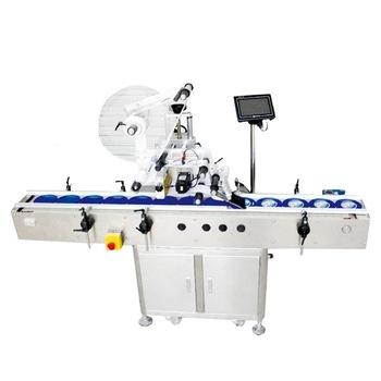 Npack High Quality Servo Motor 50-100BPM Top Flat Paste Labeling Machine for Plastic Box