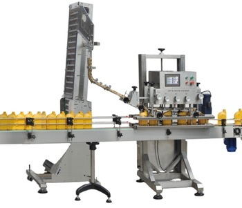 Npack Linear Type Manufacturing PLC Control Automatic Glass Bottle Capping Machine for Metal Lid