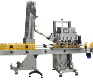 Npack Linear Type Spindle Screwing Automatic High Speed Glass Bottle Glass Jar Capping Machine