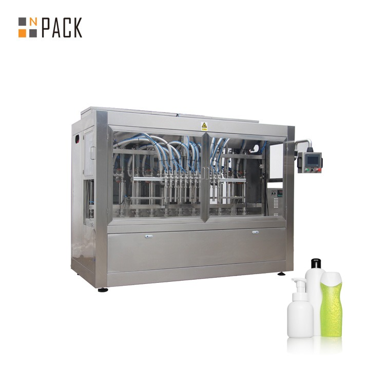 Npack 100ml-1l Servo Motor Driven Piston Laundry Cleaning Detergent Liquid Bottling Filling Machine