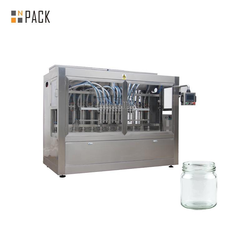 Npack Easy Operate Manufacturing Piston Servo Motor Liquid Jam Glass Jar Bottle Filling Machine