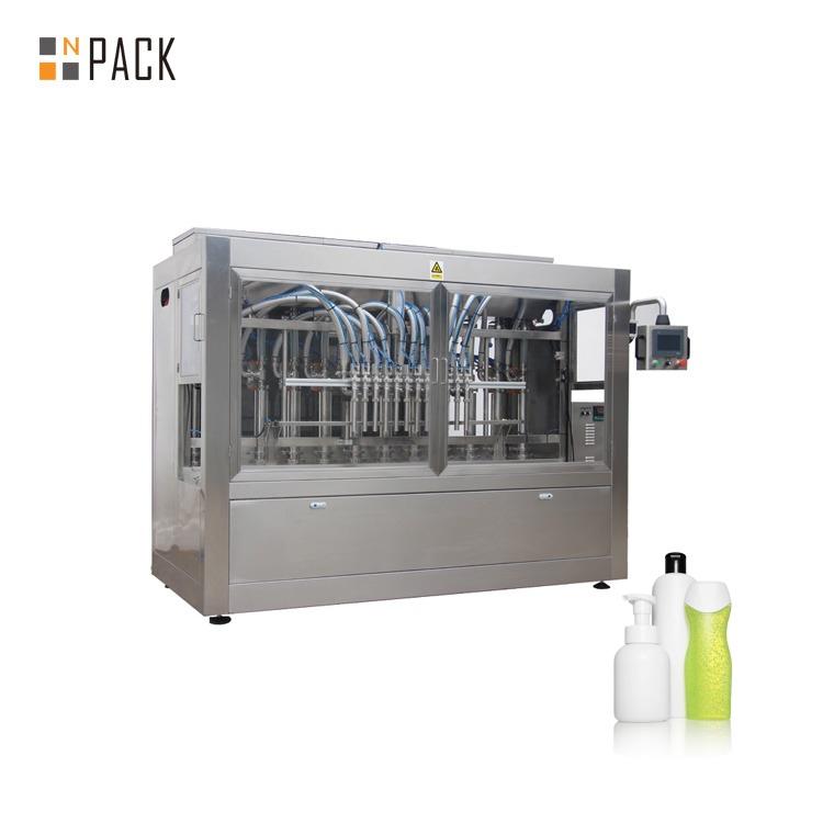 Npack Easy Operate PlC Control Manufacturing Piston Servo Type Shampoo Plastic Bottle Filling Machine