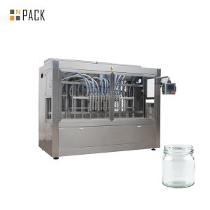 Npack High Speed Piston Linear Type Servo Motor Driven Chili Sauce Filling Machine for Glass Jar