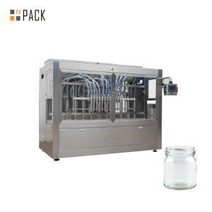 Npack Manufacturing Linear Type Servo Motor Driven Fruit Jam Peanut Butter Glass Bottle Filling Machine